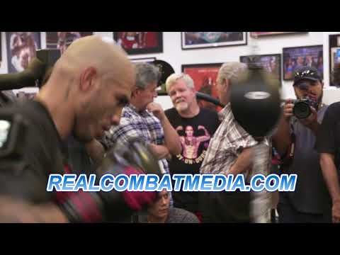 MIGUEL COTTO'S FINAL MEDIA WORKOUT AS GETS PREPARED FOR SADAM ALI
