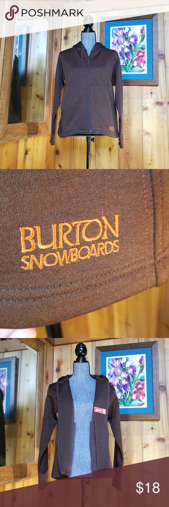 Brown Burton Snowboards zip up hoodie, szM Burton Snowboards  Brown zip up hoodie Size Medium Burton Tops Sweatshirts & Hoodies