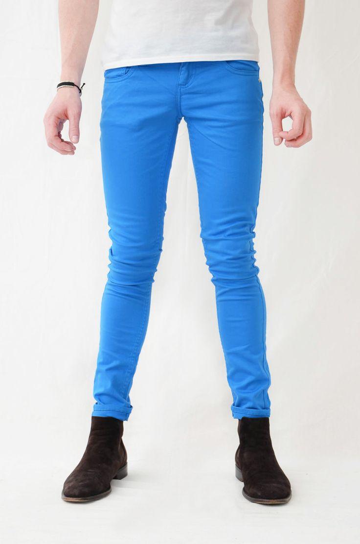Blue Mens Skinny Jeans 12