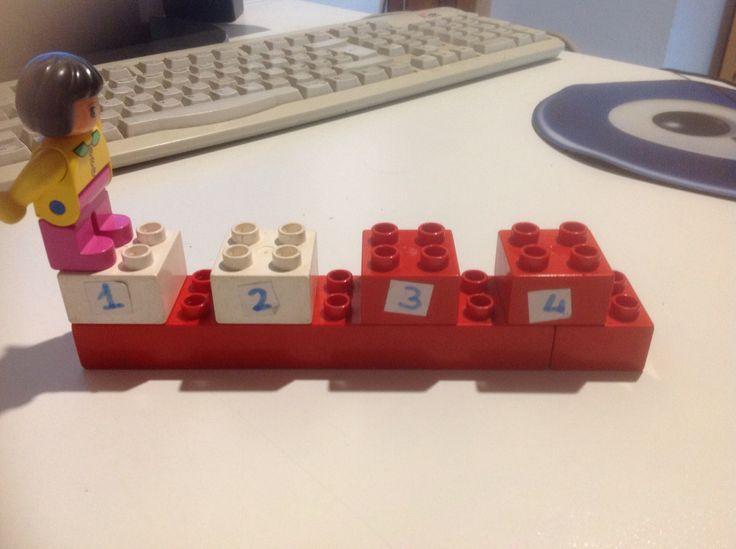 Gioco dei salti con lego