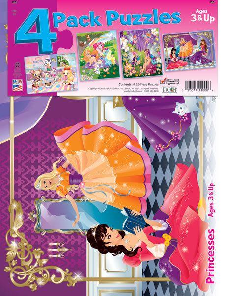 25 Piece Puzzles-4 Pack