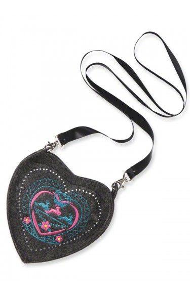Trachten Tasche - T113 - Herz anthrazit