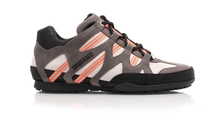Leather sneakers with ergonomic rubber sole by Dsquared