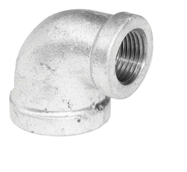 Fitting Galvanized Iron 90 Degree Reducing Elbow 3/4 Inch x 1/2 Inch