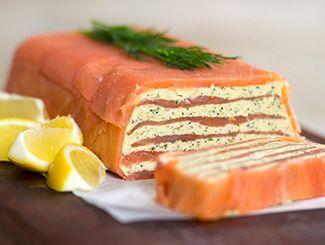 Smoked Salmon Terrine #Healthy #Salmon #HealthySalmon