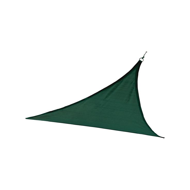 Shelter Logic Triangle Sun Shade Sail Evergreen 16' 230 gsm, Green