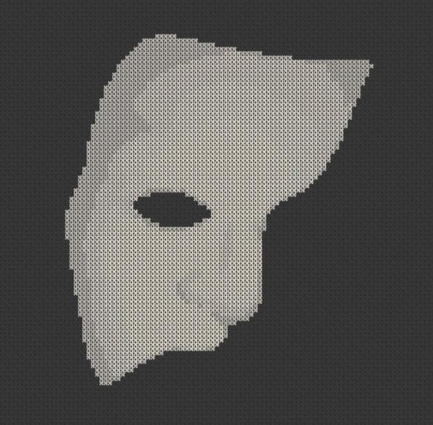 Phantom Of The Opera Mask Cross Stitch Pattern Printable PDF