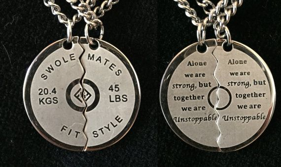 Swolemates Necklace by FitStyleBrand on Etsy