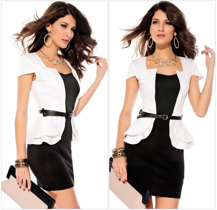 Elegant Women's Office Wear Low-cut Ruffle Trim With Belt Prom Dance Dress Outdoor Apparel