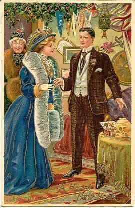 Vintage New Years Postcard