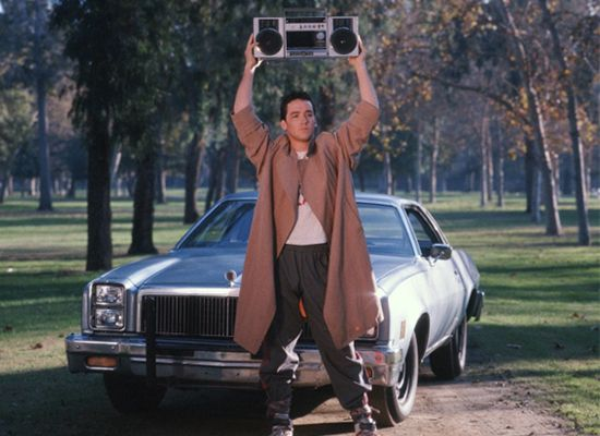 "Say Anything: The definitive movie grand gesture just may be Lloyd Dobler hoisting a ghetto blaster over his head to play ""In Your Eyes"" for Diane Court. They're broken up, both in pain, and Peter Gabriel's song, the one they had first made love to, is looping for her benefit. It would be creepy if it wasn't so wonderful."