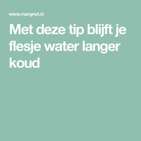 Met deze tip blijft je flesje water langer koud