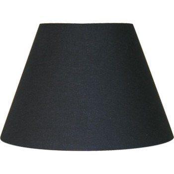 Abat-jour Sweet, 40 cm, coton, noir INSPIRE | Leroy Merlin