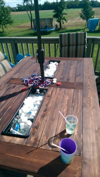Outdoor Table with Built-In Coolers by Sean M.