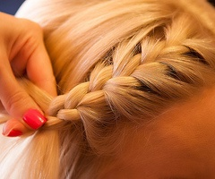 Why can't I do this? I can never fully succeed in french braiding my bangs.