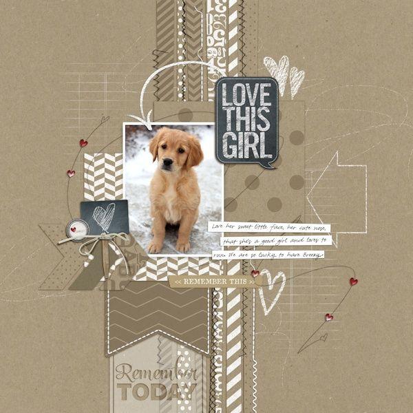 chalkboard style in scrapbook page from Lori at DesignerDigitals