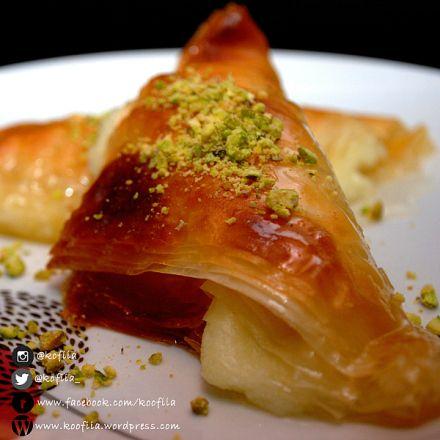 وربات بالقشطة   Cream Filled Phyllo Pastries (Warbat bil Ashta)