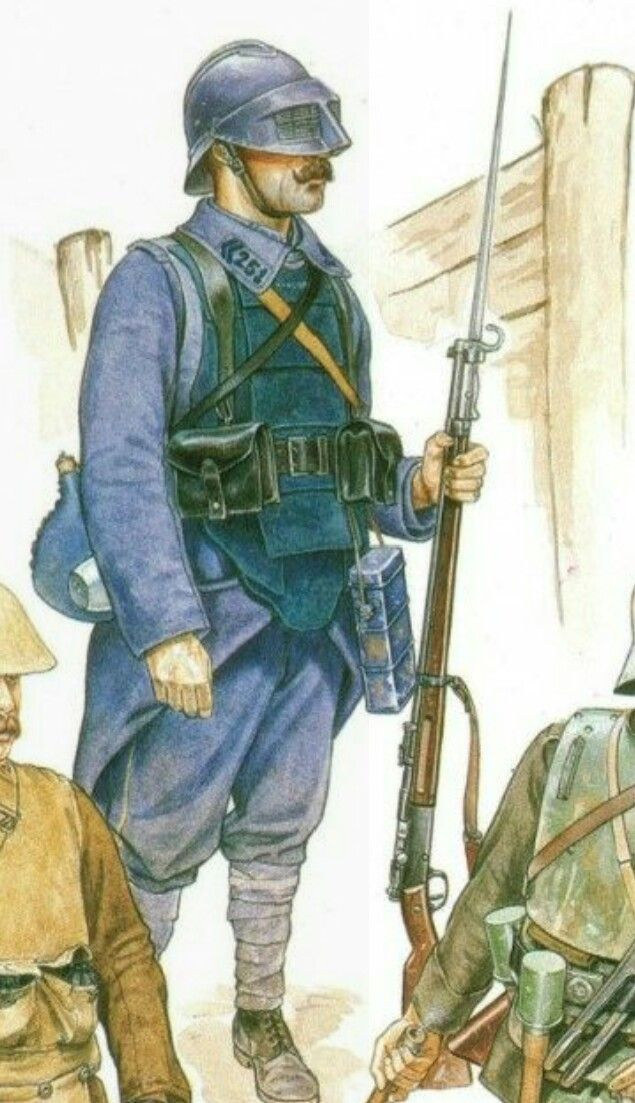 French infantry with faceguard