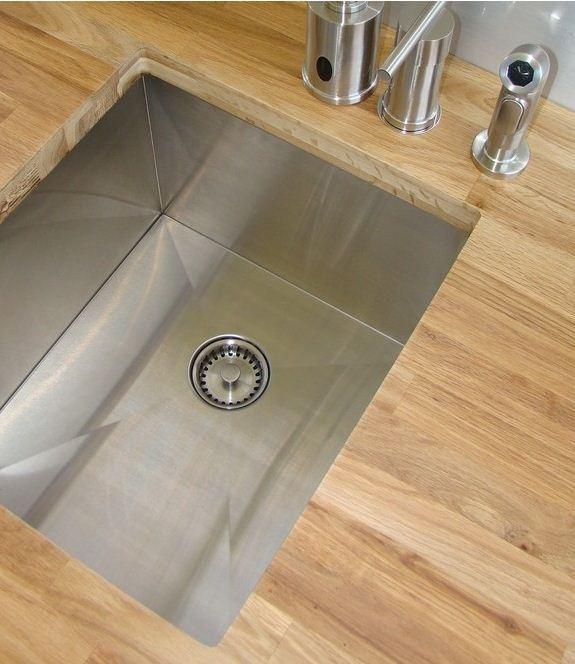 Sink Simple. Elegant. Dignified. Pure Zero Radius Prep Sink $636.00