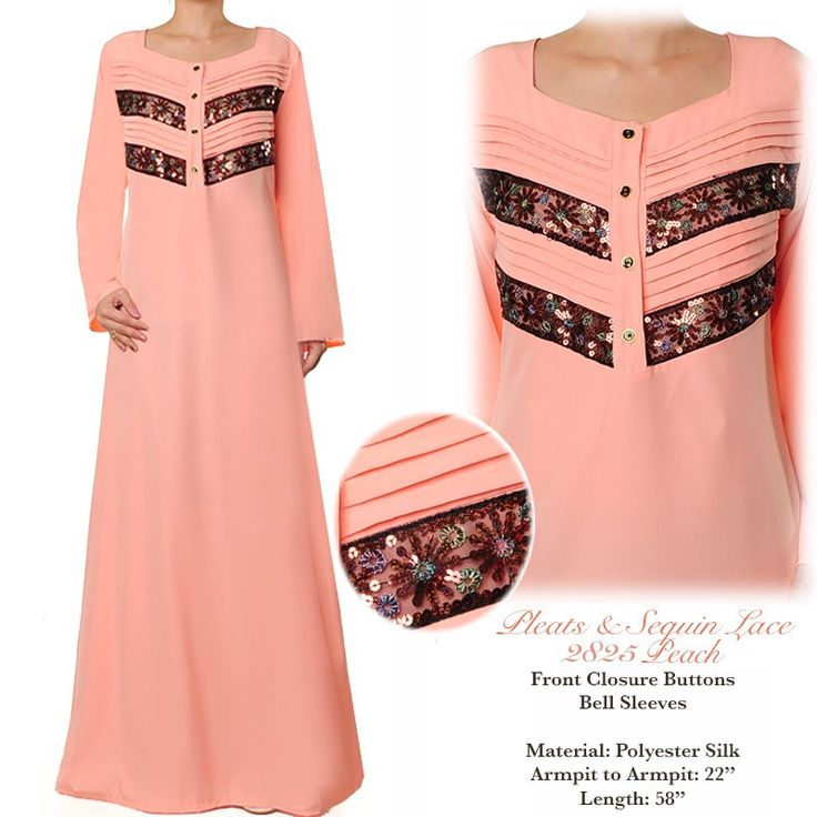 2825 Pleated Sequin Lace Abaya - Plus Size XL/1X US$30 FREE SHIPPING WORLDWIDE  Buy It Here --> http://shop.pe/HxHaV