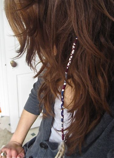 Thread Hair Wrap shair string  ideas for girls (6)