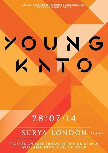 YOUNG KATO host a special London show next month, launching their new EP 'Sunshine' Tickets are on sale NOW! Find yours here: http://bit.ly/...