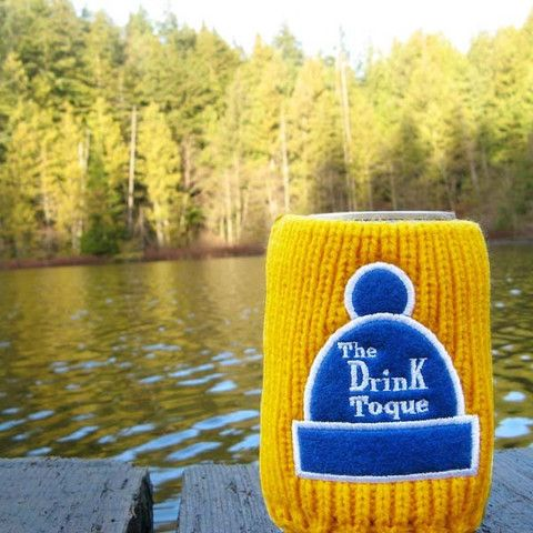 The Drink Toque - Orange  Classic, vintage-style, knit koozie. Iconically Canadian.