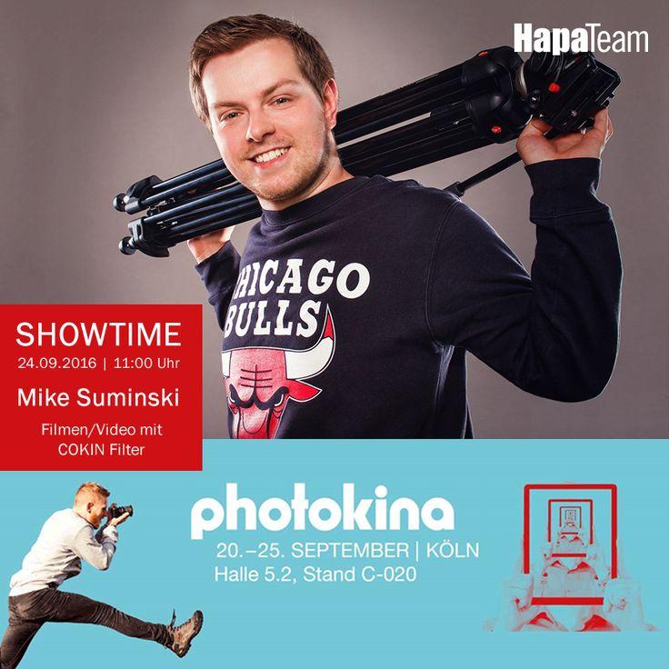 """Mike Suminski ist ein #Filmemacher und #Fotograf aus Berlin, der den größten deutschsprachigen Film- und Video-Tutorial Kanal auf YouTube betreibt. Wer das #Filmen lernen möchte, kommt an diesem Kanal nicht vorbei. Zudem gibt er Workshops und hält Vorträge und vermittelt gekonnt und auf leicht verständliche Weise sein Wissen weiter.   Mike wird einen Vortrag zum Thema """"Filmen/Video mit dem COKIN Filtersystem"""" am 24.09 um 11:00Uhr am HapaTeam #photokina Stand halten."""