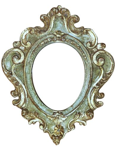 .drawing of an elegant frame. aqua, sepia