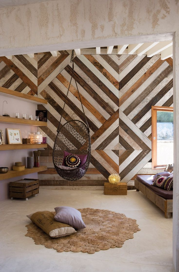 Wood effect geometric panoramic #wallpaper WOODEN by @inkiostrobianco