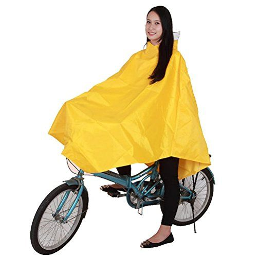 Rain Poncho Raincoat for Camping Hiking or Bicycle Waterproof Poncho Yellow ** Learn more by visiting the image link.