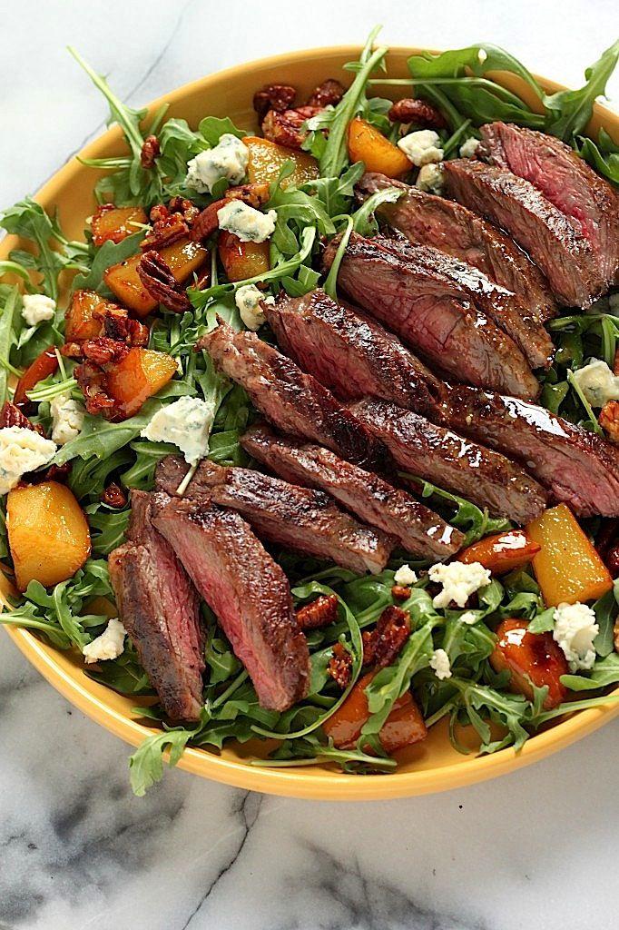 ... Caramelized Pears, Pecans, and Gorgonzola | Steak Salad, Skirt Steak