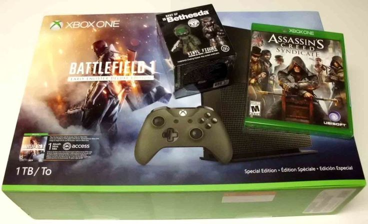 Xbox One S 1TB Console -Battlefield 1 Spc Edition Bundle (Latest Model) + 1 Game #Microsoft
