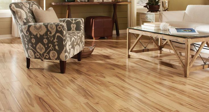 Monterey Spalted Maple Smooth Laminate Floor Light