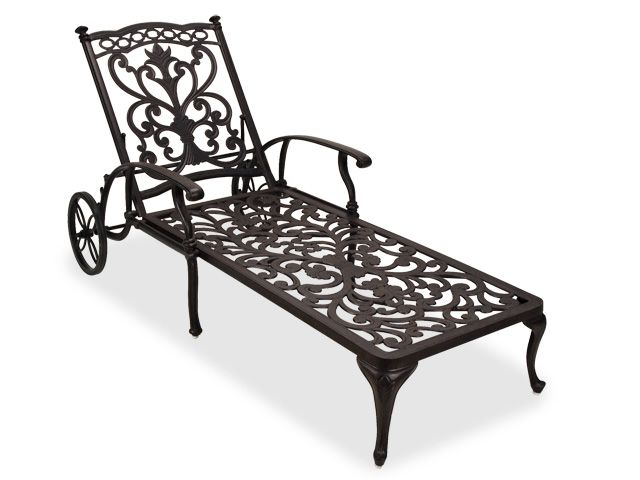 Best 25 chaise lounge outdoor ideas on pinterest for Cast aluminum chaise