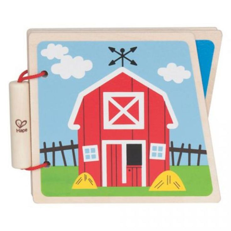 At The Farm Baby Book Wood - Hape for sale by Little Shop of Treasures. Other Hape available now at LSOT.