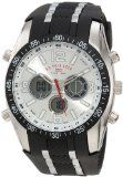 U.S. Polo Assn. Men's US9061 Black Rubber Strap Analog Digital Watch