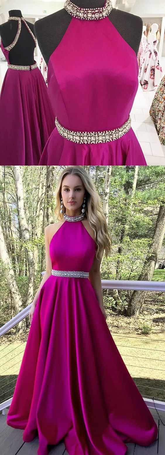 Backless A-Line O-Neck Prom Dresses,Long Prom Dresses,Cheap Prom Dresses, Evening Dress Prom Gowns, Formal Women Dress,Prom Dress