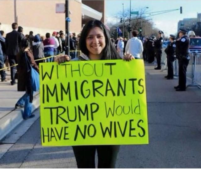 Funniest Donald Drumpf Memes: Drumpf Wives Immigrants