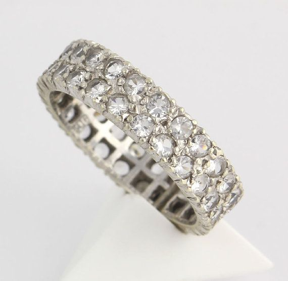 Eternity Band 2.40ctw White Sapphire 9k White by WilsonBrothers