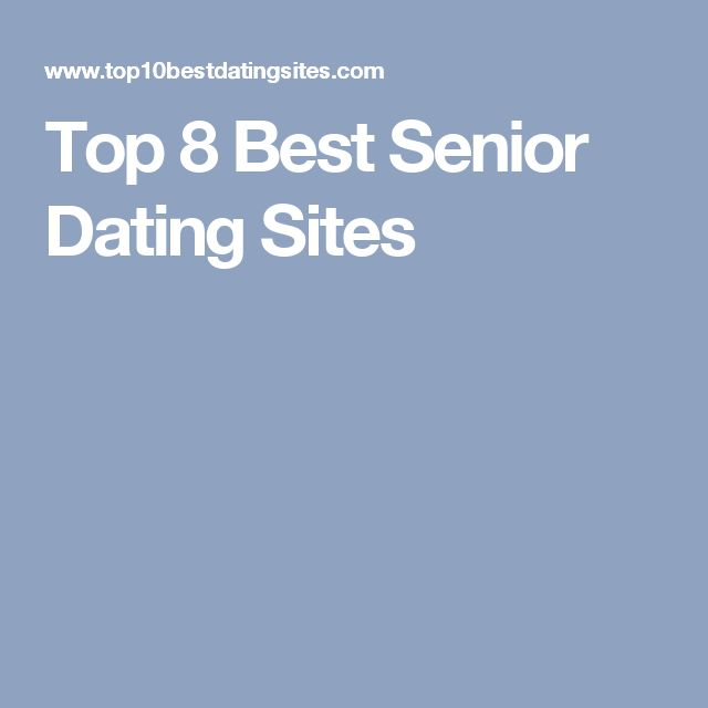 Senior dating sites