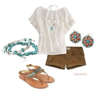 Summer time: Summer Looks, Casual Summer, Cute Outfits, Brown Shorts, Summer Outfits, Style Summer, Italian Luxury, Luxury Handbags, Longer Shorts