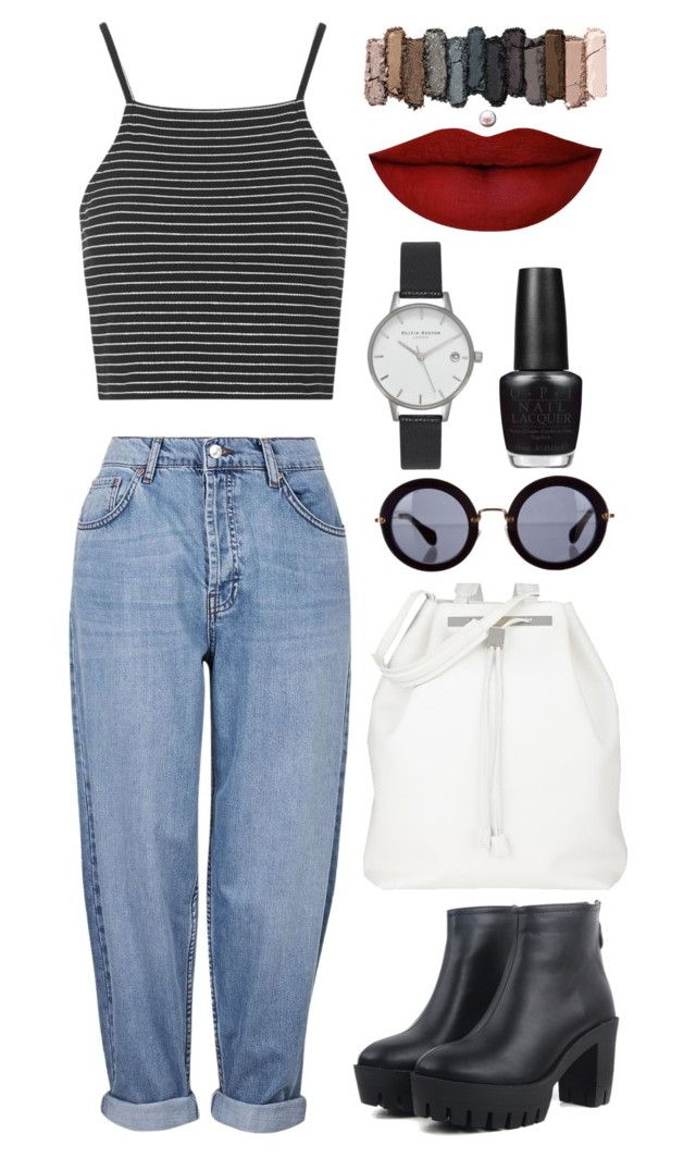 Very simple everyday look by leandra-rebeka on Polyvore featuring polyvore, fashion, style, Topshop, The Row, Olivia Burton, Miu Miu, Urban Decay, Anastasia Beverly Hills and OPI