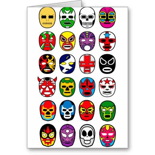 Masques de lutte mexicains de Lucha Libre Luchador Carte