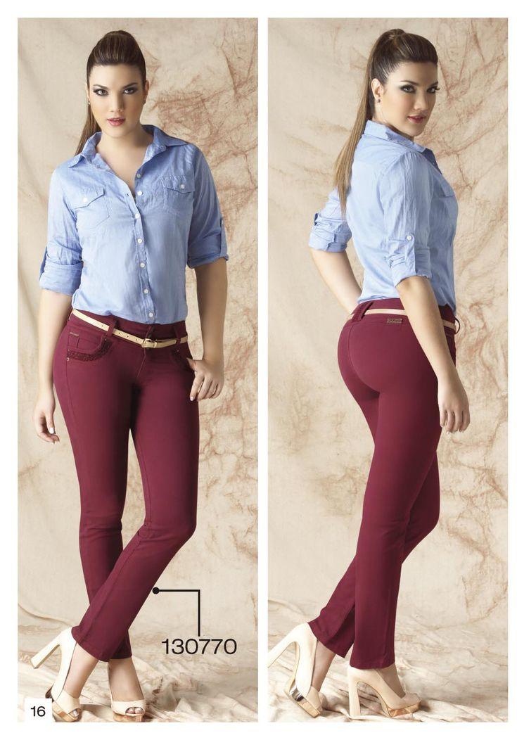 pantalon-de-drill-bota-tubo-color-vinotinto