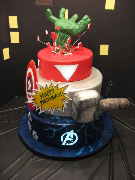 Avengers cake Party Pinterest
