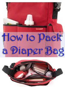 How to pack a diaper bag for twins