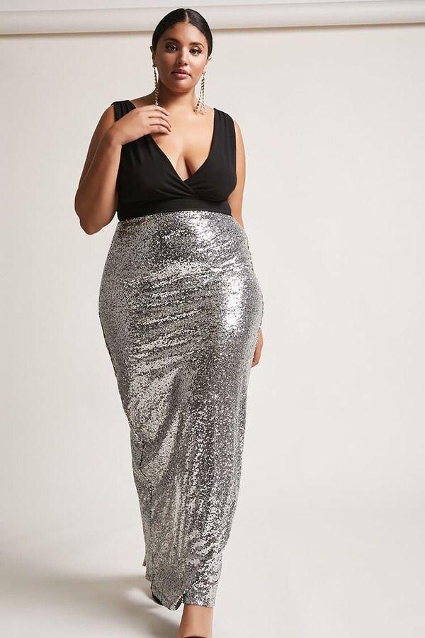 e7ab0281586 FOREVER 21+ Plus Size Sequin Maxi Dress   Curvy Girls   Fashion ...