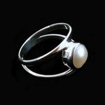 A handmade LotusMoon Pearl ring $58
