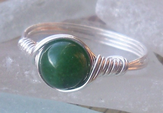 Awesome wire wrapped ring @anjasarts